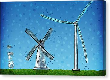 Wind Blows Canvas Print by Gianfranco Weiss