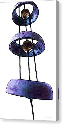 Chimes Canvas Print - Wind Chime 8 by Sharon Cummings