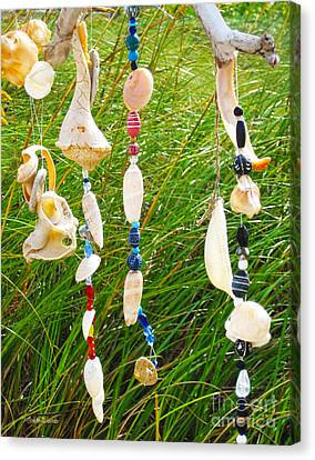 Wind Chimes At The Beach Canvas Print by Michelle Wiarda