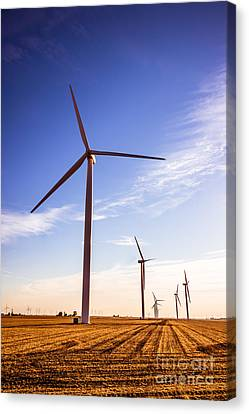 Wind Energy Windmills Picture Canvas Print by Paul Velgos