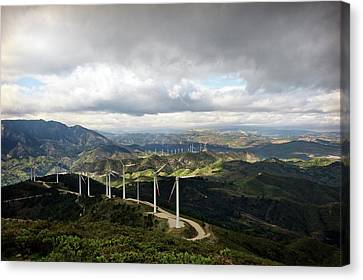 Wind Farm Canvas Print by Jon Wilson