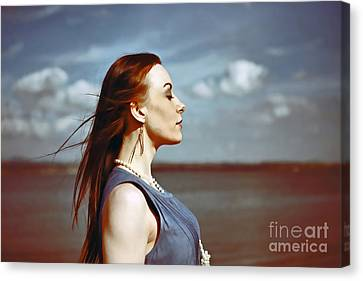 Wind In Her Hair Canvas Print