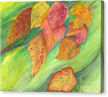 Wind In The Leaves Canvas Print by Denise Hoag