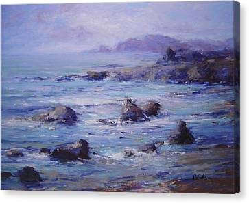 Wind On The Surf Canvas Print by R W Goetting