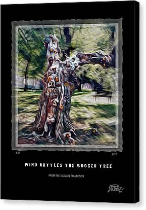 Wind Rattles The Booger Tree Canvas Print by Joe Paradis