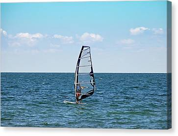 Wind Surfer Canvas Print by Aimee L Maher Photography and Art Visit ALMGallerydotcom