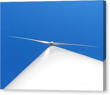 Wind Turbine Blue Sky Canvas Print