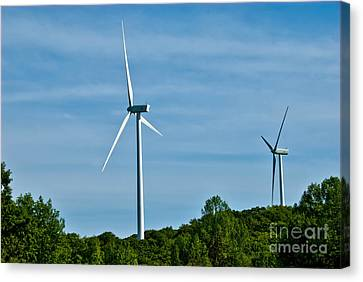 Wind Turbines Canvas Print by Amy Cicconi