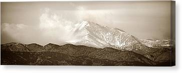Mountains Canvas Print - Wind Up Against Longs Peak by Marilyn Hunt