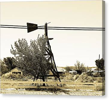 Wind Vane In Boron California Canvas Print by Charlette Miller