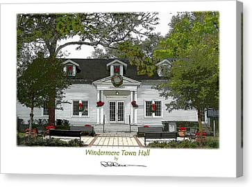 Windermere Town Hall Canvas Print