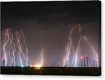 Windfarm Bolts Canvas Print