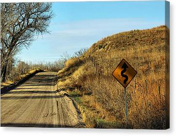 Canvas Print featuring the photograph Winding Country Road by Bill Kesler