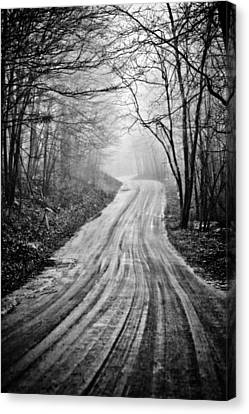 Winding Dirt Road Canvas Print by Karol Livote