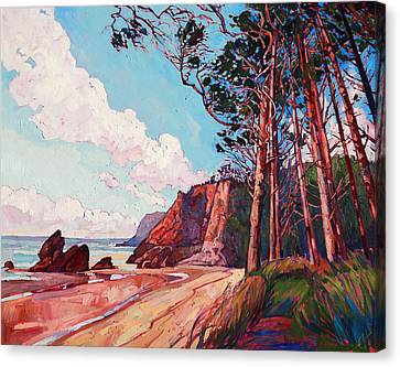 Winding Pines Canvas Print by Erin Hanson