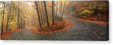 Winding Road Through Mountainside In Canvas Print