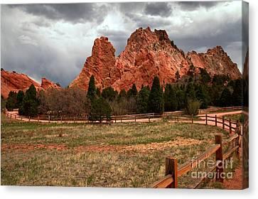 Colorado Landmarks Canvas Print - Winding Through The Garden Of The Gods by Adam Jewell