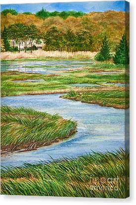 Winding Waters - Cape Salt Marsh Canvas Print by Michelle Wiarda