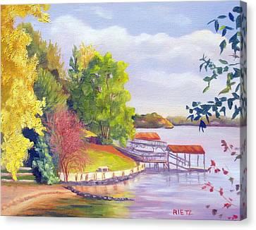 Lake Wylie Canvas Print - Windjammer Park by Julia Rietz