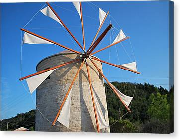 Windmill  2 Canvas Print by George Katechis