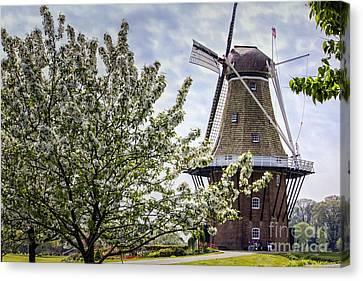 Windmill At Windmill Gardens Holland Canvas Print
