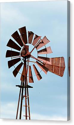 Canvas Print featuring the photograph Windmill by Cathy Shiflett