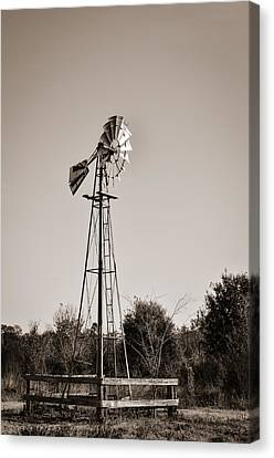 Windmill Circle B Bar Reserve Canvas Print by Carolyn Marshall