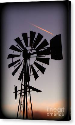 Canvas Print featuring the photograph Windmill Close-up by Jim McCain
