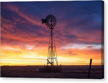 Windmill Dressed Up Canvas Print by Shirley Heier
