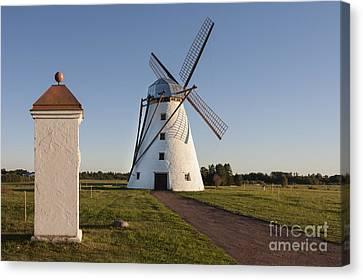 Gatepost Canvas Print - Windmill In Estonia by Jaak Nilson