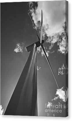 Canvas Print featuring the photograph Windmill by Inge Riis McDonald