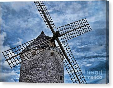 Windmill Of La Mancha Canvas Print by Alexandra Jordankova