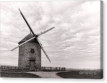 Windmill Canvas Print by Olivier Le Queinec