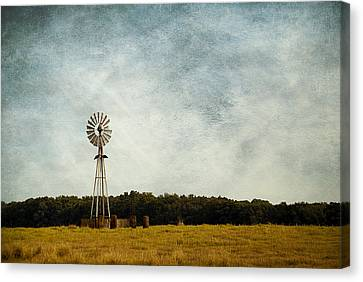Windmill On The Farm Canvas Print by Beverly Stapleton