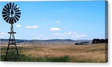 Windmill On The Plains Canvas Print by Kaleidoscopik Photography