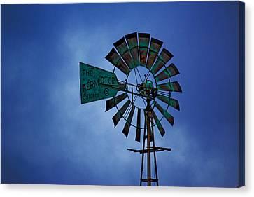 Canvas Print featuring the photograph Windmill by Rowana Ray