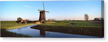 Windmill, Schermerhorn, Netherlands Canvas Print by Panoramic Images
