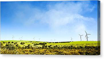 Canvas Print featuring the photograph Windmill by Yew Kwang