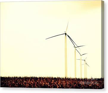 Windmills 1 Canvas Print by A K Dayton