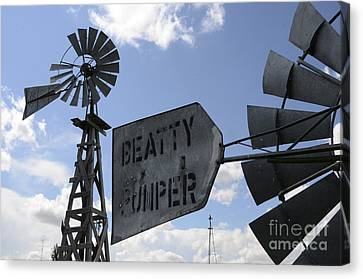 Windmills 1 Canvas Print by Bob Christopher