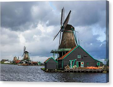 Zaandijk Canvas Print - Windmills At Zaanse Schans by Jenny Hudson