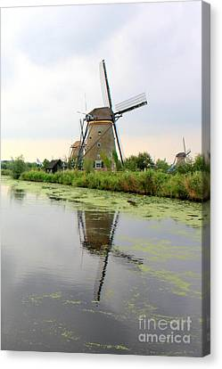 Windmills Canvas Print by Carol Groenen