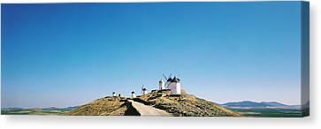 Windmills La Mancha Consuegra Spain Canvas Print by Panoramic Images