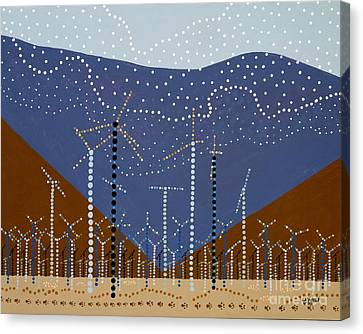 Windmills Of The Coachella Valley Canvas Print by Linda Wolf