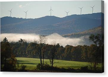 Canvas Print featuring the photograph Windmills by Paul Noble