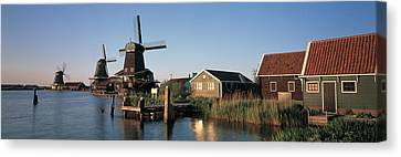 Windmills Zaanstreek Netherlands Canvas Print by Panoramic Images