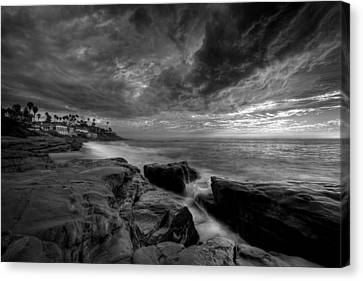 Windnsea Clouds Canvas Print by Peter Tellone