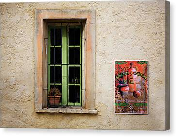 Window And Poster In Minerve Canvas Print by Panoramic Images