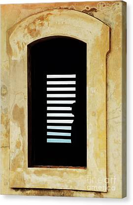 Window And Shadow At El Morro Canvas Print by Marcus Dagan