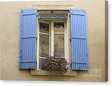 Window And Shutters Canvas Print by John Shaw